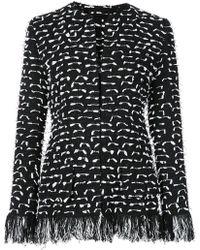 Oscar de la Renta - Fringed Tweed Jacket - Lyst