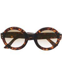 Cutler & Gross Oversize Round-frame Sunglasses - Brown