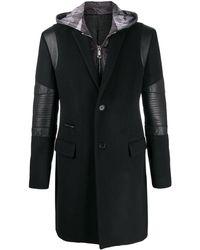 Philipp Plein Длинное Пальто Institutional - Черный