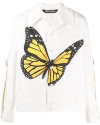Palm Angels シャツジャケット - ホワイト