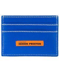 Heron Preston カードケース - ブルー
