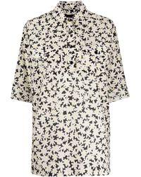 Marc Jacobs フローラル シャツ - ブラック