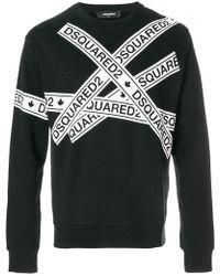 DSquared² - Sweatshirt mit Logo-Tapes - Lyst