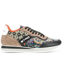 Etro - Panelled Colour Block Trainers - Lyst