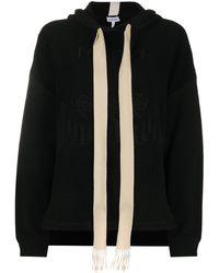 Loewe Sweatshirt mit Stickerei - Schwarz