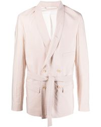 Lemaire - Shawl-lapels Belted Blazer - Lyst