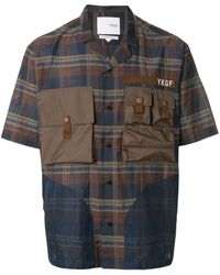 Yoshio Kubo チェック ユーティリティシャツ - ブラウン