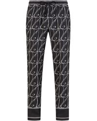 Dolce & Gabbana ロゴ パジャマパンツ - ブラック