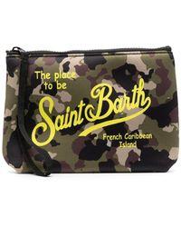 Mc2 Saint Barth Camouflage Logo-print Wash Bag - Green