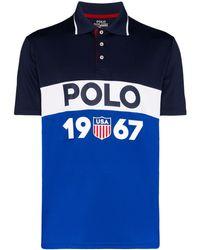 Polo Ralph Lauren Рубашка-поло В Стиле Колор-блок С Логотипом - Синий