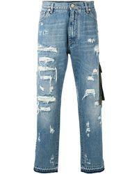 Dolce & Gabbana Vaqueros con detalles rasgados - Azul