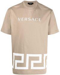Versace - Camiseta con logo estampado - Lyst