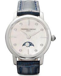 Frederique Constant スリムライン ムーンフェイズ レディース 30mm - ホワイト