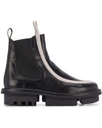 Trippen コントラストトリム ブーツ - ブラック