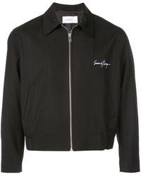 Second/Layer Boxy Zipped Jacket - Black