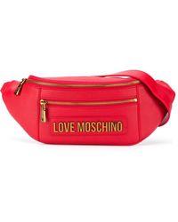 Love Moschino ロゴ ベルトバッグ - レッド