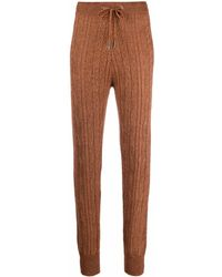 Eleventy Cable-knit joggers - Brown