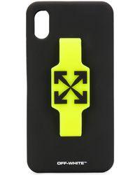 Off-White c/o Virgil Abloh Coque d'iPhone XS Max Finger Grip - Noir