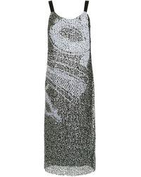 Mara Mac Sequin Midi Dress - Black