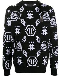 Philipp Plein Icons セーター - ブラック