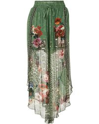 Camilla Sheer-layered Silk Skirt - Multicolour