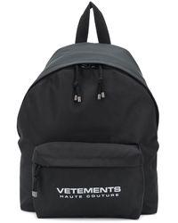 Vetements ロゴ バックパック - ブラック