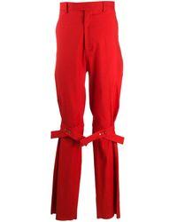 Bottega Veneta Брюки Строгого Кроя С Декоративными Ремешками - Красный