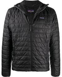 Patagonia Nano Puff Hooded Jacket - Black