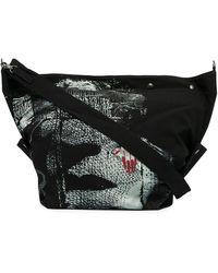 Yohji Yamamoto Sac porté épaule imprimé - Noir