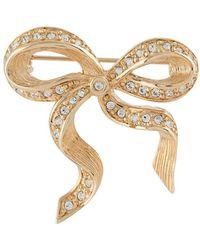 Dior Broche Met Strik - Metallic