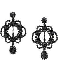 Simone Rocha Oversized Oorbellen - Zwart