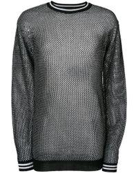 Diesel Black Gold Honeycomb-knit Jumper - Black