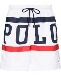 Polo Ralph Lauren Badeshorts mit Logo-Print - Weiß