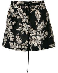 Moncler Shorts de talle alto - Negro