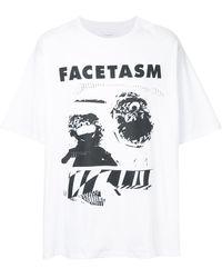 Facetasm ロゴプリント Tシャツ - マルチカラー