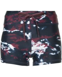 The Upside Printed Track Shorts - Blue