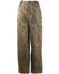 Uma Wang Pantalon ample à fleurs - Multicolore