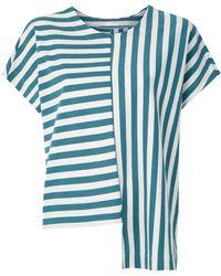 Osklen Summer Stripe ブラウス - ブルー
