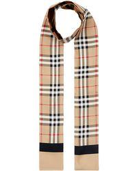 Burberry Sjaal Met Vintage Ruit - Meerkleurig