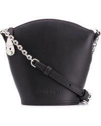 Calvin Klein Small Logo Bucket Bag - Black