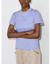 Daily Paper Estan Logo-embroidered T-shirt - Purple