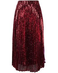 Philosophy Di Lorenzo Serafini Sequin embroidered skirt - Rouge