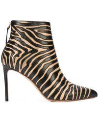 Francesco Russo Zebra Print Boots - ブラック
