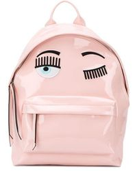 Chiara Ferragni Wink Embroidered Backpack - Pink