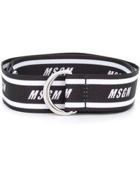 MSGM Logo Printed Belt - Black
