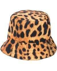 Manokhi Leopard-print Bucket Hat - Yellow