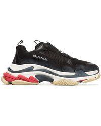Balenciaga Zwarte Triple S Leren Sneakers