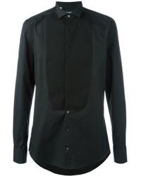 Dolce & Gabbana Bib Shirt - Zwart