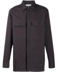 Bottega Veneta Рубашка С Контрастными Вставками - Серый