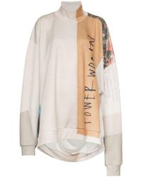 Marques'Almeida - Printed Oversized Cotton-blend Jumper - Lyst